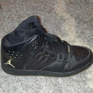 a189e8ada9c Nike Jordan 1 Flight 4 Premium Black and yellow.